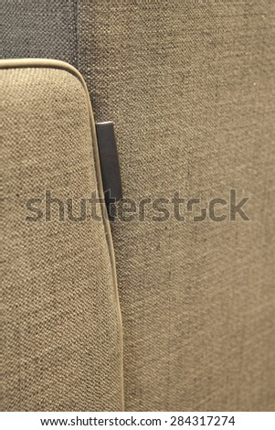 Upholstered furniture detail - stock photo
