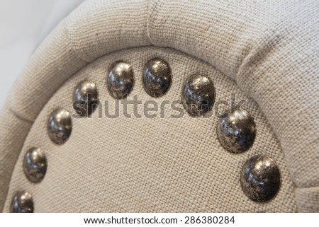 Upholstered furniture - detail - stock photo