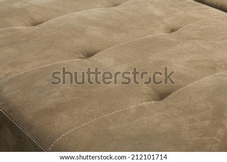 upholstered furniture - seams - stock photo