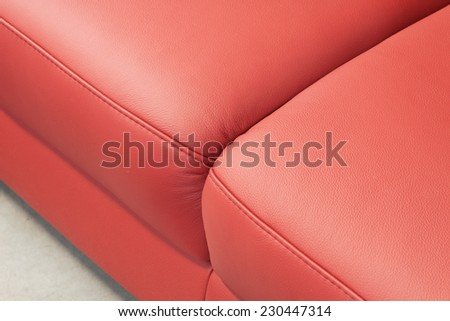upholstery detail - leather - stock photo