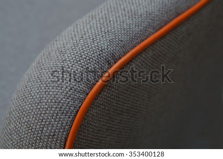 upholstery detail - piping - stock photo
