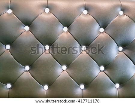 Upholstery leather pattern sofa background - stock photo