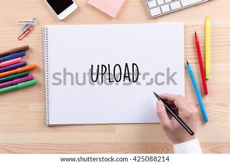 Upload - stock photo
