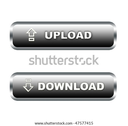 upload and download buttons - stock photo