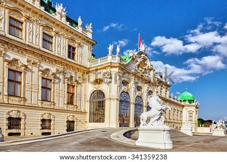 Upper Belvedere. Main palace complex Belvedere.Vienna. Austria. - stock photo