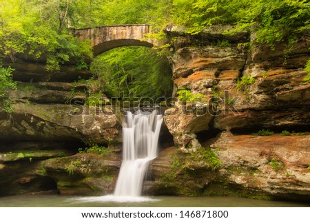 Upper Falls at Hocking Hills State Park in Ohio