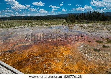 Upper Geyser Basin, Yellowstone National Park, Wyoming, USA