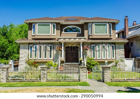 Upper Middle Class House - stock photo