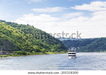 upper middle rhine valley - stock photo
