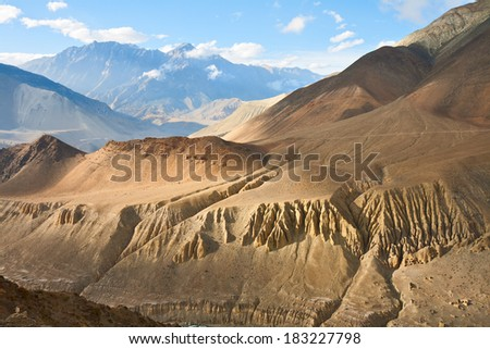 Upper Mustang landscape, Annapurna conservation area, Nepal - stock photo