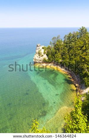 Upper Peninsula (Pictured Rock National Lake Shore) - Michigan, USA - stock photo