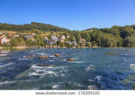 Upper Rhine in Switzerland, just above the Rhine Falls