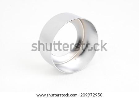 Upper Shock Spring Cover Set on white background - stock photo