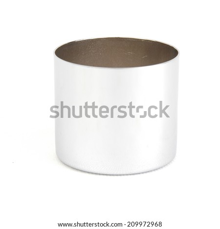Upper Shock Spring Cover Set on white background,NUT Motorcycles,real used motor steel gear transmission parts isolated on white background - stock photo