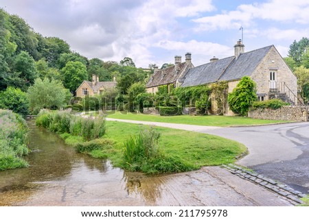 Upper Slaughter in the English Cotswolds
