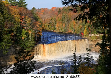 Upper Tahquamenon Falls in Autumn Michigan