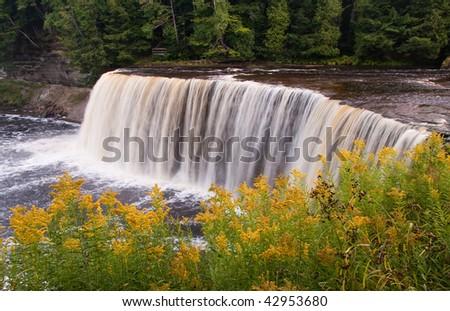 Upper Tahquamenon Falls in Michigan - stock photo