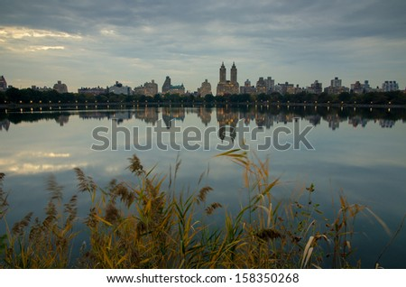 Upper West Side from Central Park - stock photo