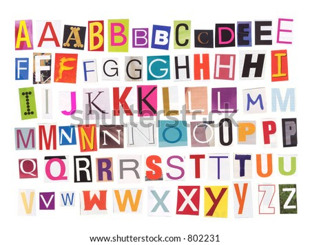 Uppercase magazine cutouts isolated make your stock photo royalty uppercase magazine cutouts isolated to make your own words see also my lowercase letters spiritdancerdesigns Images