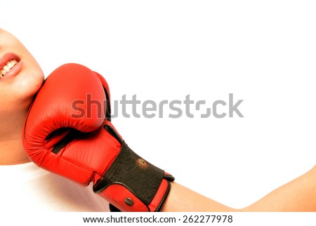 Uppercut - Image representing a boxing match where a boxer hits with a deadly uppercut