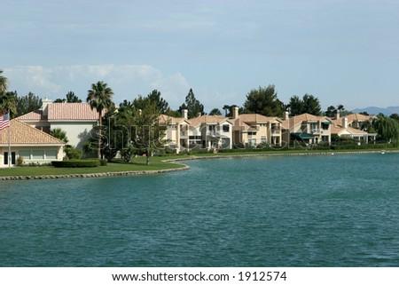 Upscale homes - stock photo