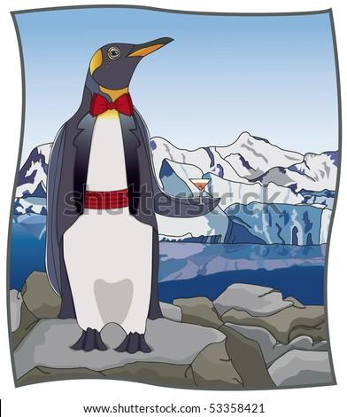 Upscale Penguin - RASTER Version - stock photo
