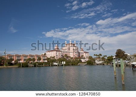 Upscale resort in St. Pete's Beach, Florida - stock photo