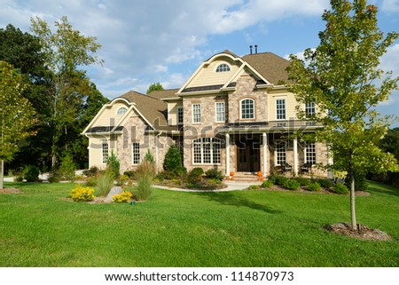 upscale suburban house - Luxury House Exterior