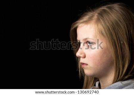 Upset child - stock photo