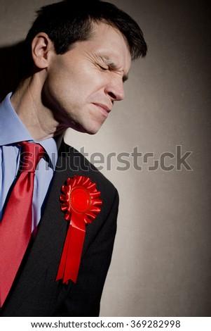 Upset Election Candidate - stock photo