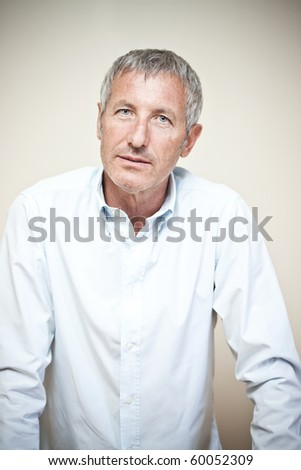 Upset man portrait - stock photo