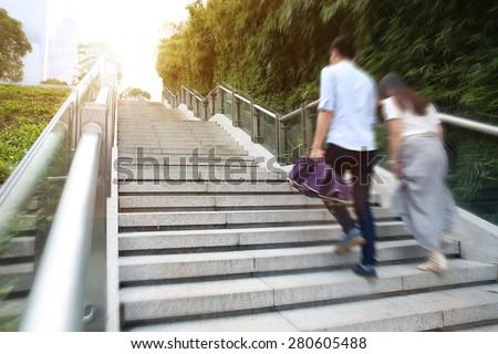 Upstairs stairs  - stock photo