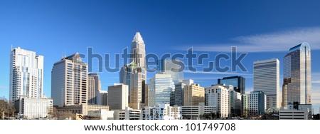 Uptown Charlotte, North Carolina Cityscape - stock photo
