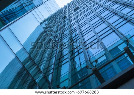 Urban abstract - windowed corner of office building