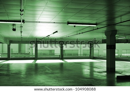 Urban architecture, city garage or parking building. - stock photo