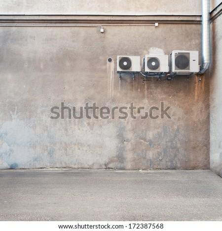 Urban background. Empty street wall. - stock photo