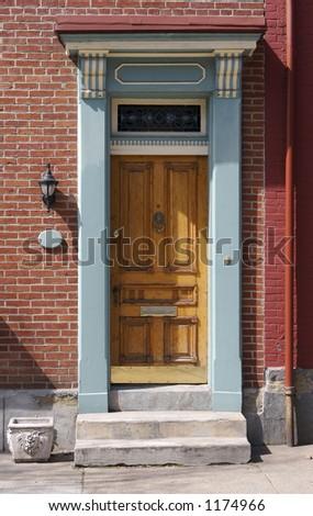 Urban City Door Detail - stock photo