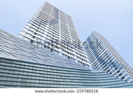 Urban commercial building construction - stock photo