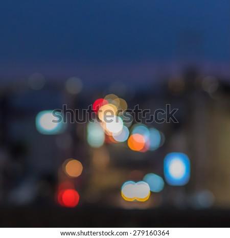 Urban defocused night scene - stock photo