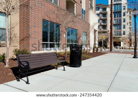 Urban design elements. - stock photo