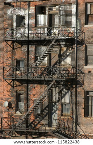 Urban Detroit - An urban apartment block in Detroit. - stock photo