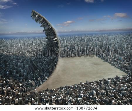 Urban development - stock photo