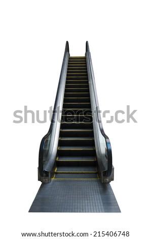 urban escalator on white background - stock photo