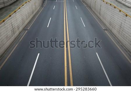 Urban highway tunnel   - stock photo