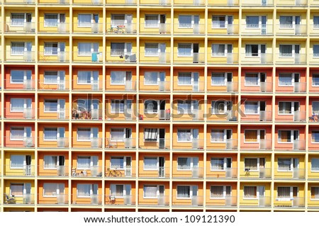 Urban house or building, facade pattern. - stock photo
