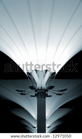 Urban lamps pattern design in Lisbon expo public space - stock photo