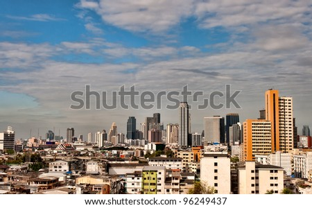 Urban landscape, day view of the Bangkok