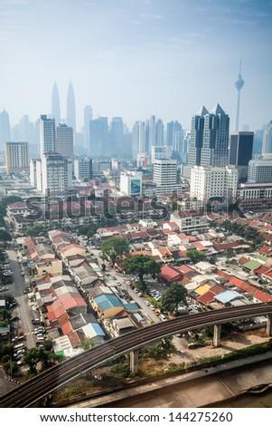 Urban landscape of Kuala Lumpur,Malaysia - stock photo