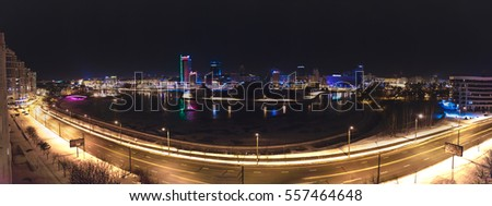 urban landscape of the city at night