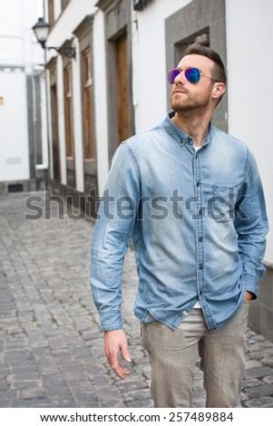 Urban man in the street